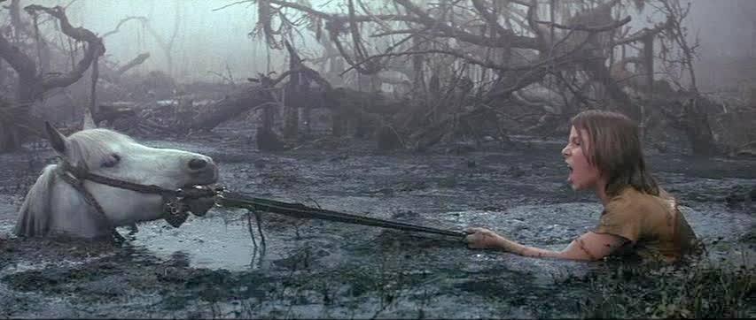 Cavalo Atreyu no pantano da tristeza História sem Fim