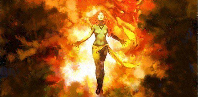 Jean Grey com a Força Fênix Marvel Poderes