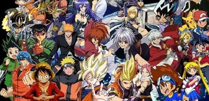 Os melhores animes de todos os tempos: imagem diversos personagens Shonen Jump
