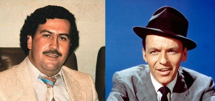 Frank Sinatra era sócio de Pablo Escobar
