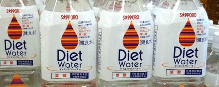 Garrafas de água diet