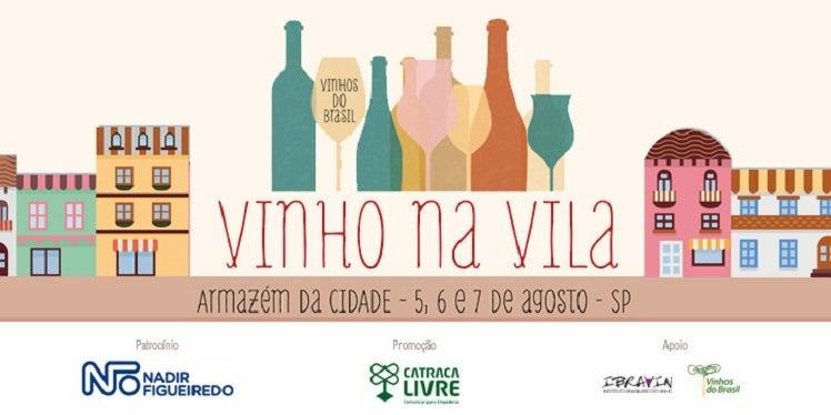 banner com logo do Vinho na Vila