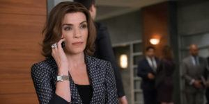 "NEW YORK - MARCH 30: ""Verdict"" – As Peter's trial begins, Alicia works desperately to keep her husband from returning to jail. Also, Diane and Lucca move aggressively to expand the law firm, but face serious opposition from David Lee, on THE GOOD WIFE, Sunday, May 1 (9:00-10:00 PM, ET/PT) on the CBS Television Network. Pictured Julianna Margulies as Alicia Florrick (Photo By Jeff Neumann/CBS via Getty Images)"