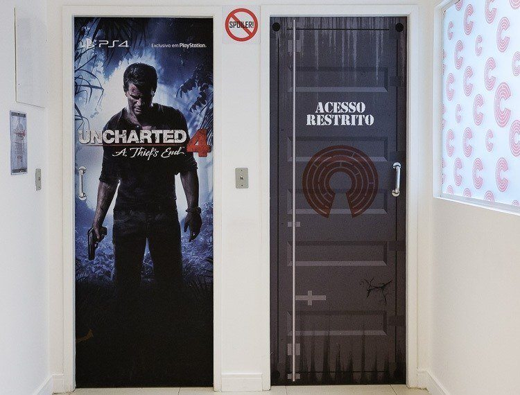 Frente da Sala Uncharted 4 no Escape 60