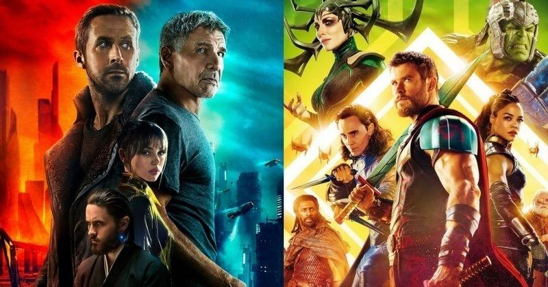 cartaz de Thor Ragnarok e Blade Runner 2049