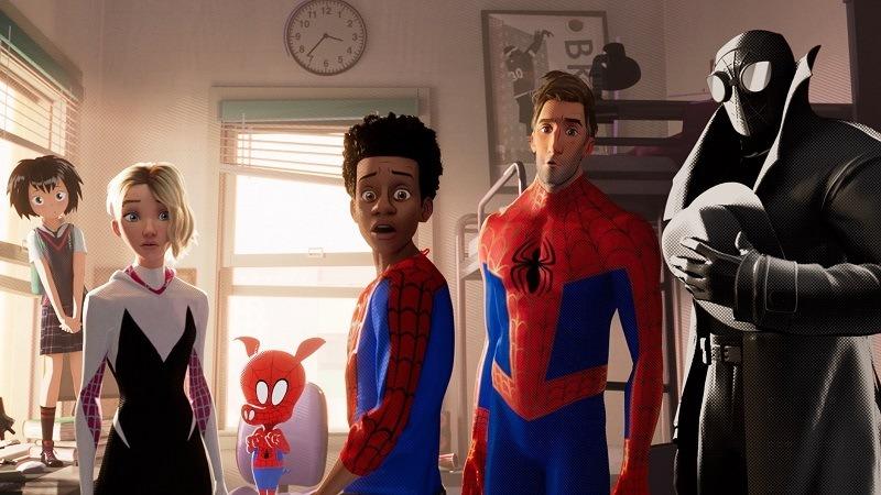 cena da animação Homem-Aranha: Aranhaverso