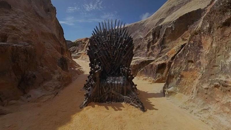 HBO esconde Trono de Ferro em praia do Ceará