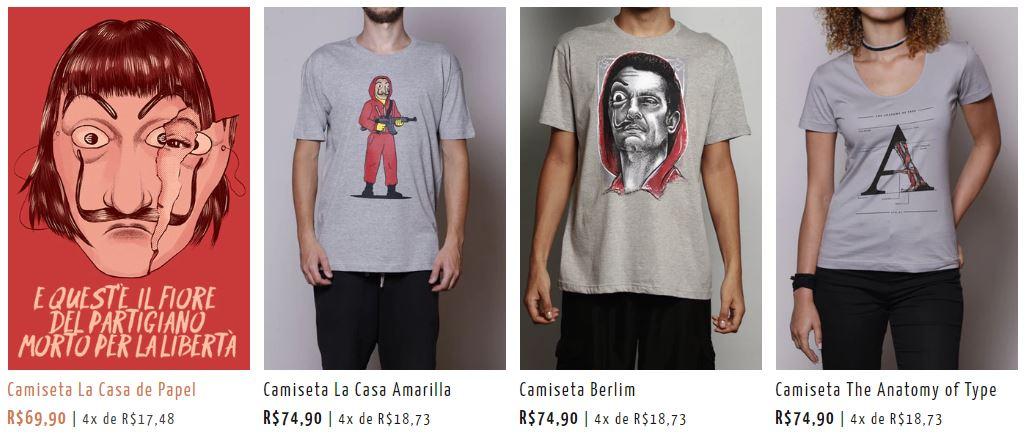 Camisetas de La casa de Papel
