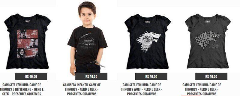 Camisetas de Game of Thones