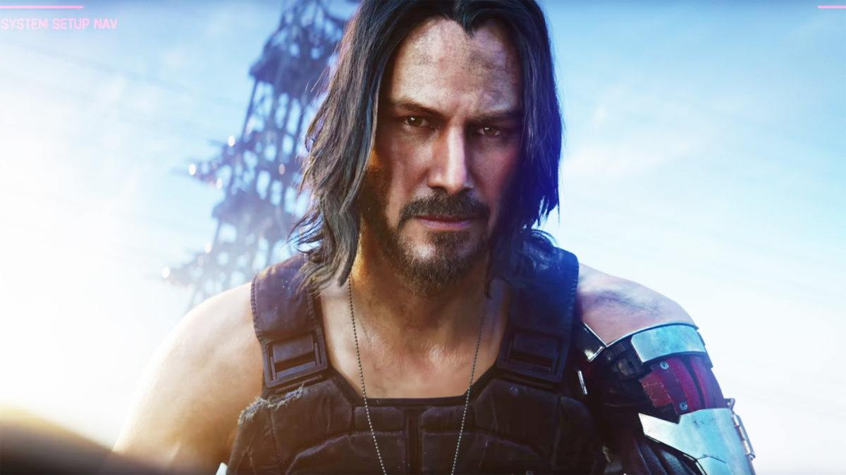 Keanu Reeves no trailer de Cyberpunk 2077