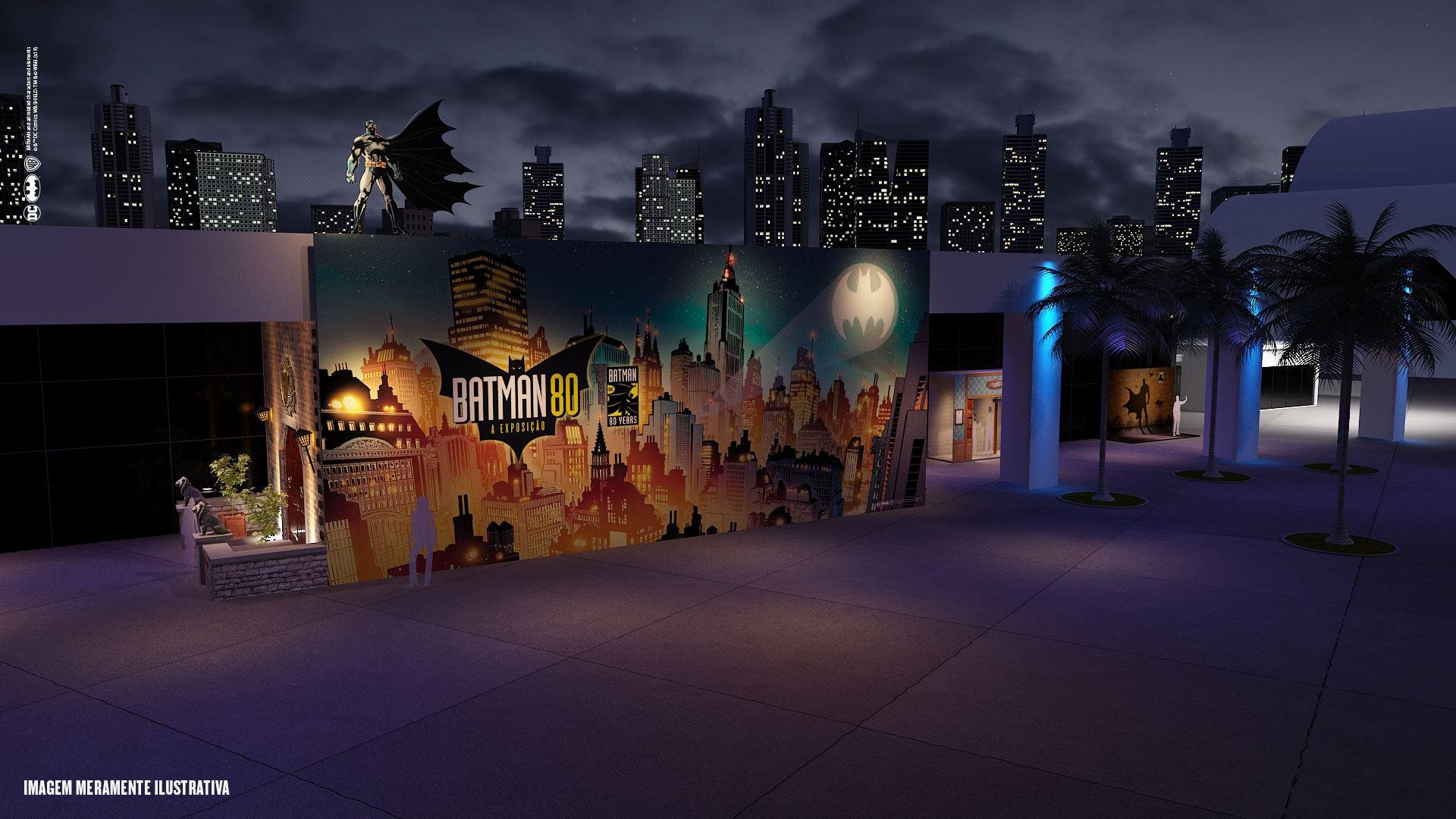 Cenário da exposição Batman 80