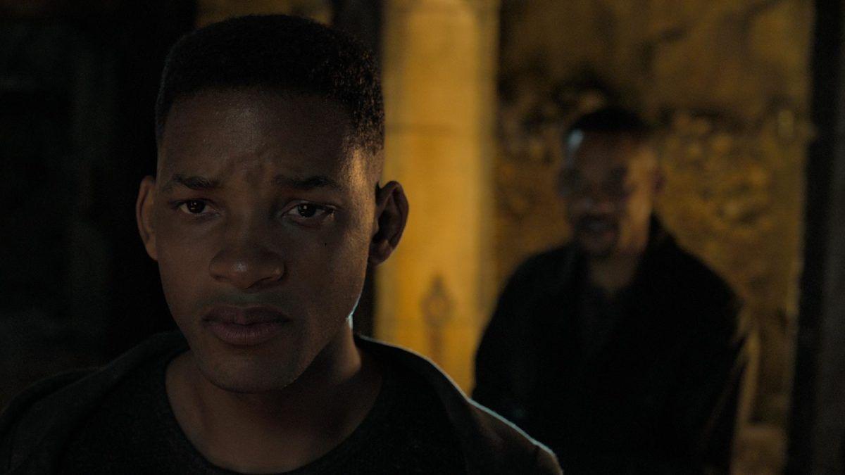 Will Smith mais jovem no filme Projeto Gemini